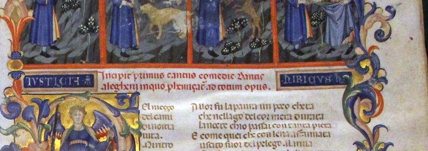 Miniatura della Divina Commendia.